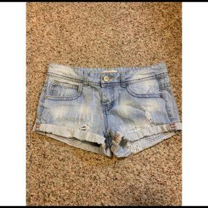 Forever 21 Faded Denim Jean Shorts Size 26